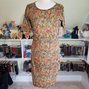 Lularoe Fall Floral Julia Dress Medium NWT